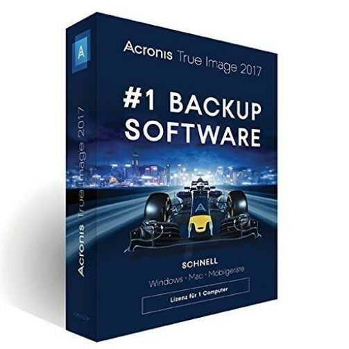 Software Acronis True Image 2017 Minibox, Vollversion für 1 PC/Notebook Backup