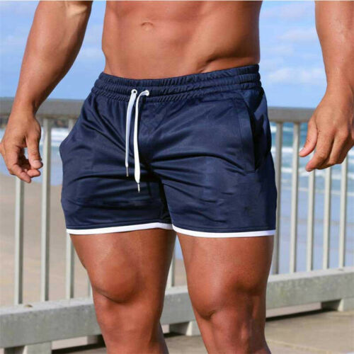 Mens Sport Training Running Summer Shorts Workout Fitness GYM Beach Casual Pants