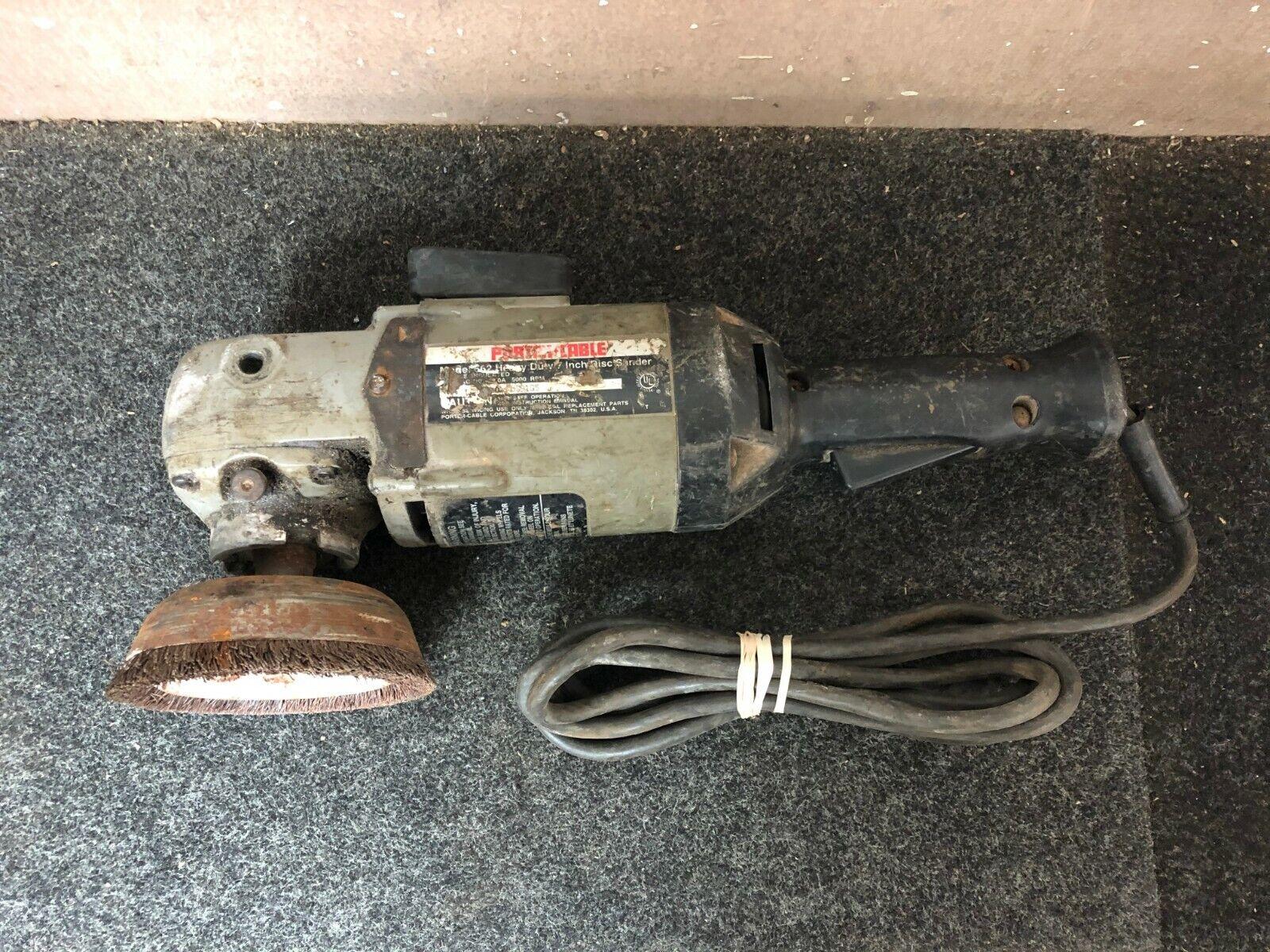 Porter Cable Corded Heavy Duty 7  Disc Sander   Polisher - Model 662