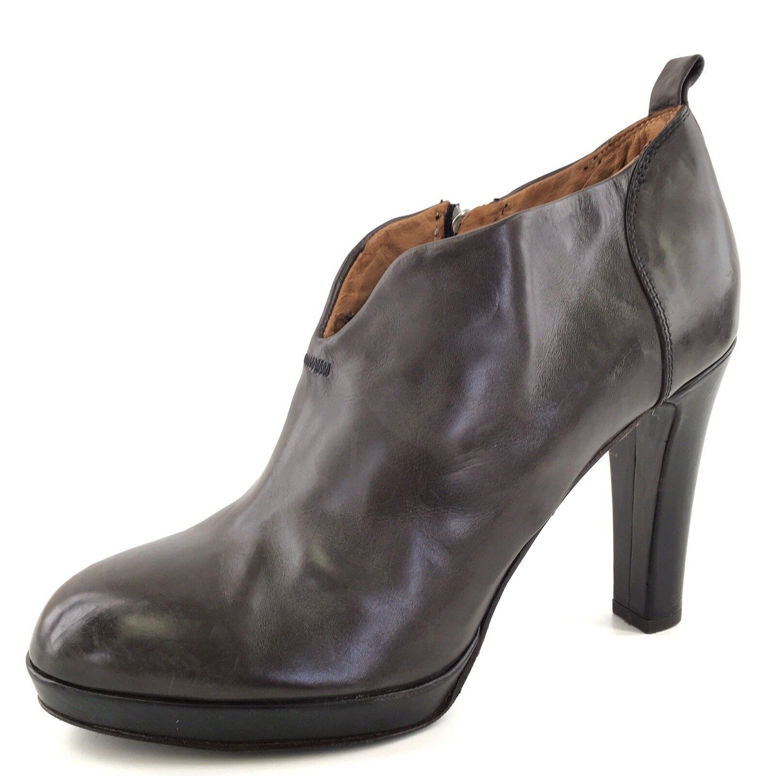 New Alberto Fermani Brown Pelle Ankle Stivali Donna Size 10 M RP  515*