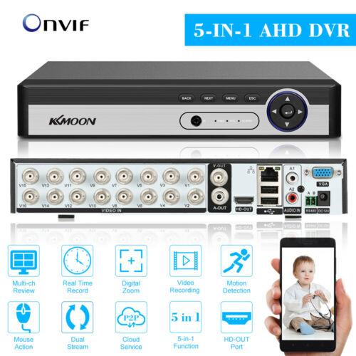 KKmoon 16CH 1080P Hybrid AHD DVR 5-in-1 Network Digital Video Recorder APP G4N6