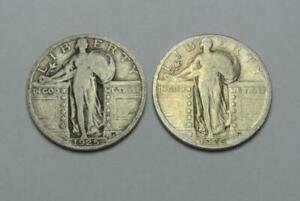 1925-amp-1926-Standing-Liberty-Quarters-VG-Condition-C8170
