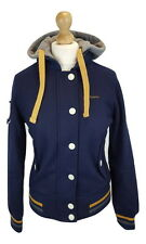 Q074 Superdry Ladies Tokyo Baseball Varsity Style Wool Blend Bomber Jacket, M