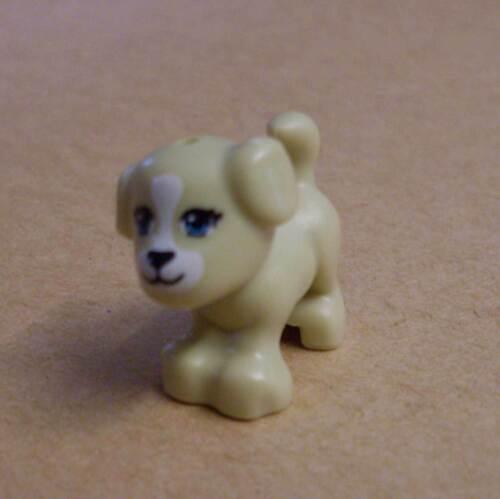 Lego hellbrauner Hund mit Gesicht beige braun Hunde Dog Tier Animal Neu