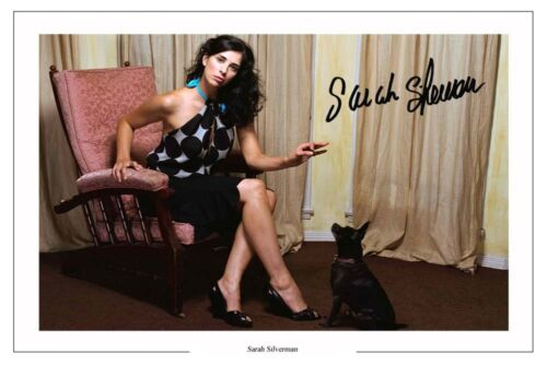 SARAH SILVERMAN SIGNED AUTOGRAPH PHOTO PRINT POSTER STAND UP COMEDY