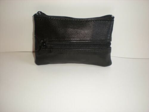 Soft Leather Zip Top Unisex Money And Key Holder 1884
