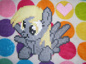 My Little Pony Mlp Derpy Hoovesditsy Doo Heart Perler Bead Art Ebay