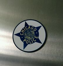 "Chicago Police Department Star logo 3"" metal insignia"