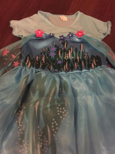 NEW INSPIRED FROZEN FEVER QUEEN ELSA BIRTHDAY PARTY DRESS Size 3//4 Anna