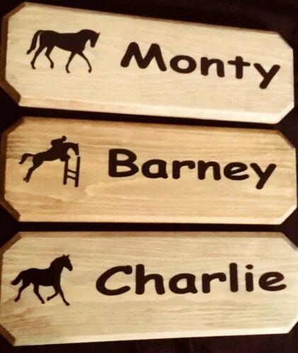 Personnalisé en Bois Stable Plaque Cheval /& Poney STABLE SIGNE Stable Porte Plaque