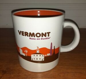 Dunkin Donuts Vermont Runs on Dunkin 14 oz Destination Mug Cup 2013