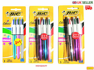 new bic shine retractable ballpoint pens blister pack of 3 assorted