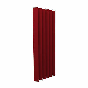 Lamellenvorhang Vertikaljalousie Lamellen Vertikal Jalousie 8,9 x 250 cm rot