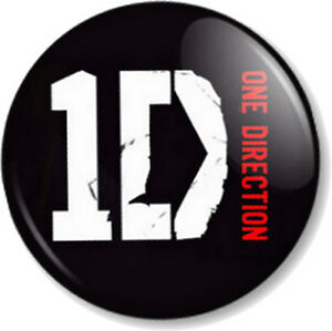 One-Direction-Logo-Black-25mm-1-034-Pin-Button-Badge-Boy-Band-Harry-Styles-1D-Fans