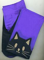 Leg Avenue 7908 Black Cat Tights Opaque/sheer Lycra/spandex One Size Reg Purple
