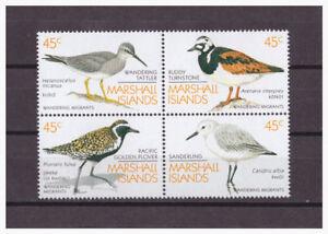 Marshall-Inseln-Zugvogel-Oiseaux-Migrateurs-Minr-222-225-1989-MNH