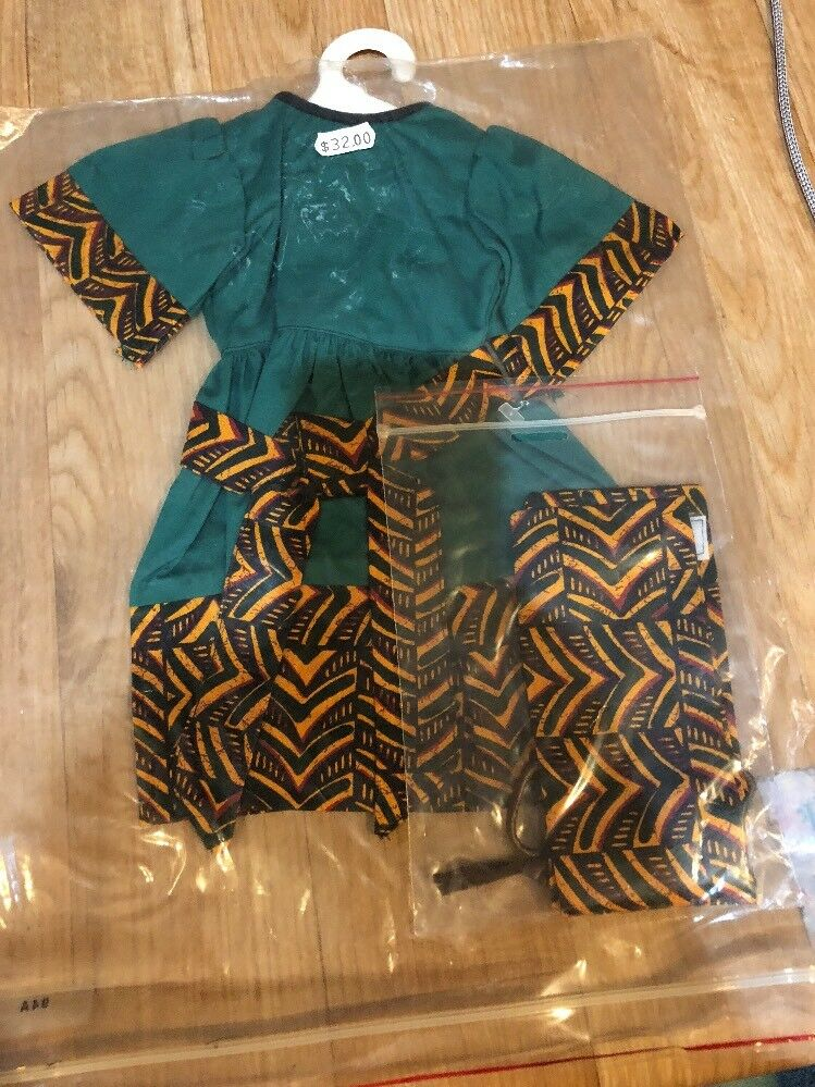 Doll Fashions Unlimited African Dress Fits Magic Attic Club American Girls 18""