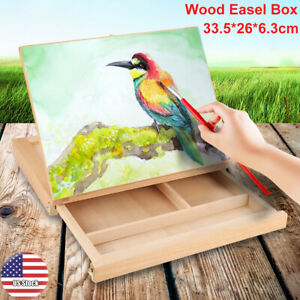 Artist-Display-Easel-Art-Drawing-Painting-Wood-Table-Sketching-Box-Board-Desktop