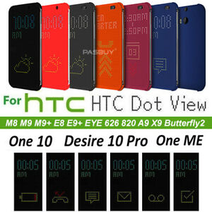 super popular a6132 e3718 Details about Dot View Case for HTC M8 M9 M9+ E9 E8 ME A9 X9 M10, Desire 10  626 Eye 820 BF2