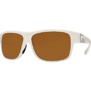 69ee849109 NEW Costa Del Mar CAYE Polarized Sunglasses 580p White Frame Amber ...