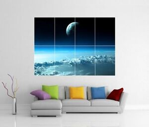 SPACE-VIEW-OF-EARTH-PLANET-GIANT-WALL-ART-PICTURE-PRINT-PHOTO-POSTER-J150