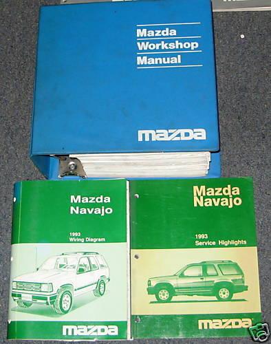 1993 Mazda Navajo Service Workshop Manual Set
