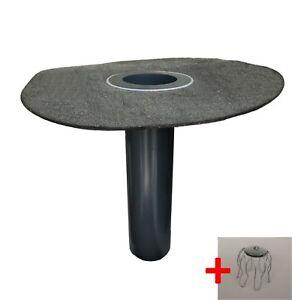 Flachdachablauf-DN-100-Laubfang-Bitumen-Flansch-rund-Dachgully-Einlauf-DN110