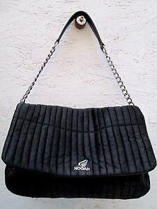 tout neuf bd69e 375e0 Détails sur AUTHENTIQUE sac à main HOGAN toile et cuir TBEG bag vintage /