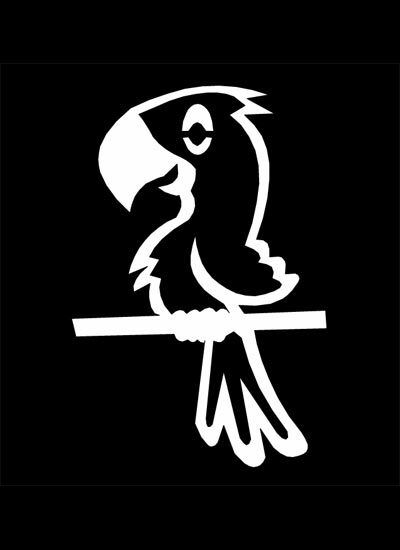 My Stick Figure Family Car Window Vinyl Stickers Pb1 Pet Bird Parrot