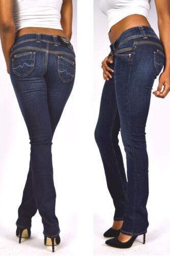Venus fois Low H06 une Fit Bleu Jeans Butt Knack Foncé Encore New Da Pepe Straight 5Xgp5qw