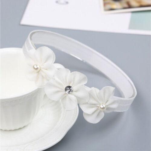 Baby Girl Pearl Flower Headband Elastic Hairband Baby Hair Accessories t