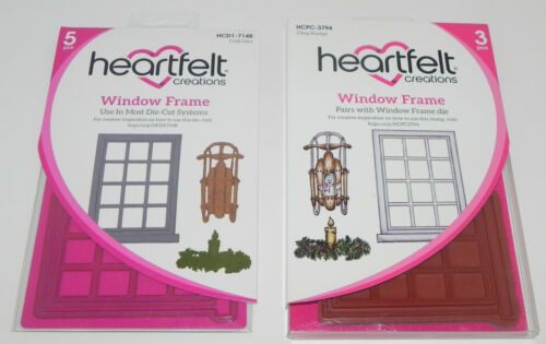 HEARTFELT CREATIONS CLING STAMP /& DIES SETS ANCHOR WINDOW WILDWOOD CONEFLOWER