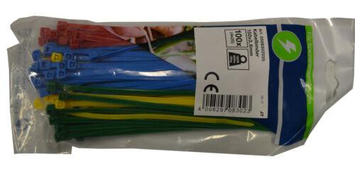 DÜWI REV Fascette per cavi farbset 150 x 3,6 colorato misto 100 pezzi