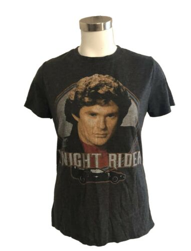 Knight Rider David Hasselhoff Soft High Low Hem Gr