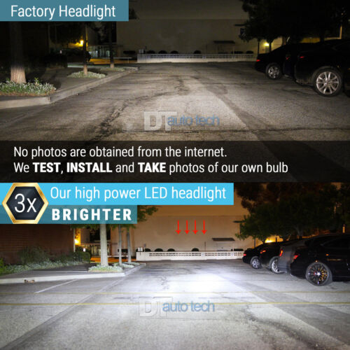 Details about  /Syneticusa H13 9008 CREE LED 6000K White Headlight Bulb Kit High//Low Beam Light