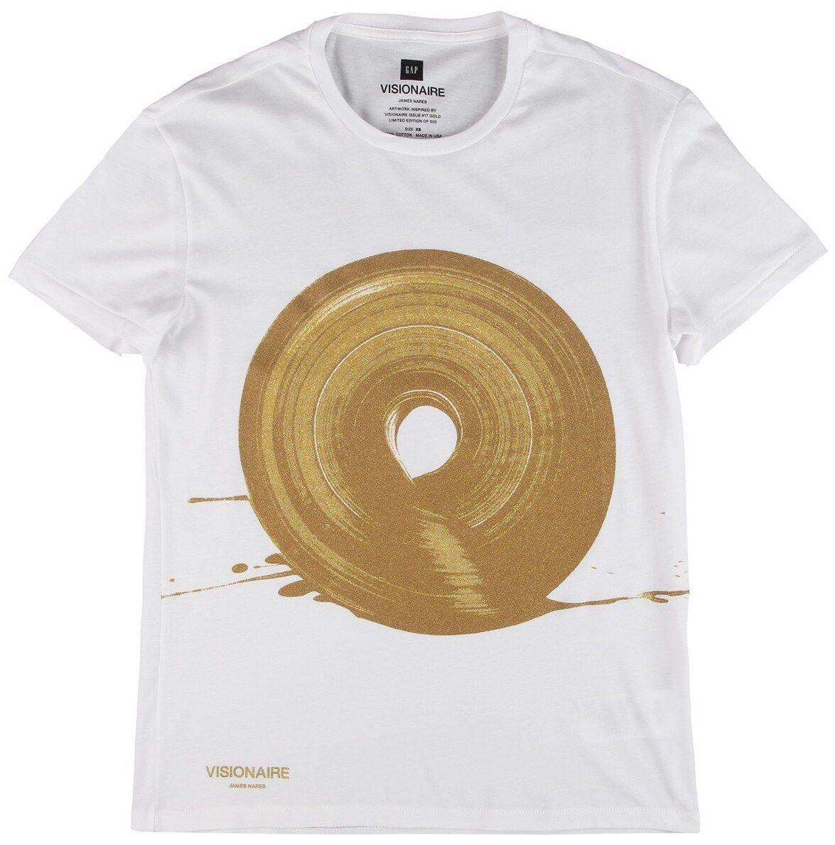 JAMES NARES x Visionaire x Gap Gold Ink Silkscreen T-Shirt M S/O Ltd. Ed. NWT