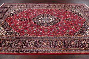 Traditional-Floral-Ardakan-Oriental-Area-Rug-Wool-Hand-Knotted-RED-Carpet-7-039-x10-039