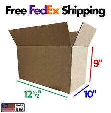 10pk 125x10x9 Small Corrugated Cardboard Moving Boxes Free Shipping
