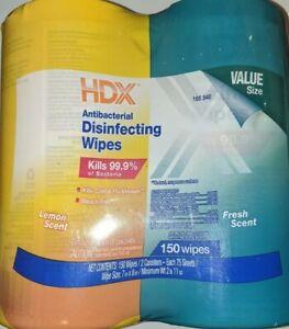 HDX Anti Cleanning Lemon Fresh Scent Total Count 150 Lot Value Pack