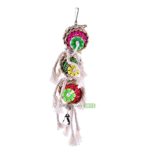 Pet Bird Swing Parrot Parakeet Budgie Cockatiel Cage Hammock Hanging Funny Toy