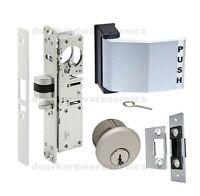 ADAMS RITE TYPE COMMERCIAL DOOR DEADLATCH LOCK, PADDLE HANDLE, PASSAGE DOGGING