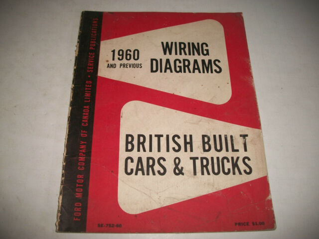 1960   Prior British Built Ford Cars  U0026 Trucks Wiring Diagrams Anglia Prefect