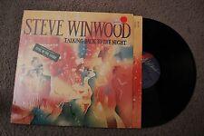 Steve Winwood Talking Back To The Night Rock Record lp NM