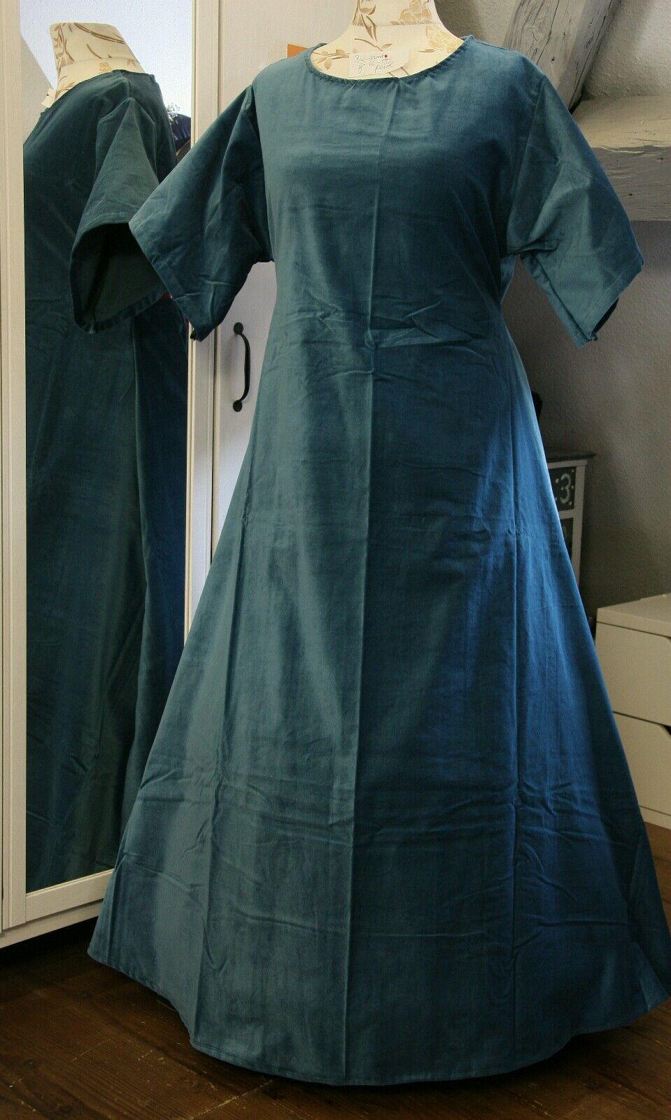 Untergewand Untergewand Untergewand Mittelalter Kleid Gewand LARP blau petrol  Gr.46  48   50 Baumwolle  | Hochwertige Materialien  | Vorzugspreis  | Ausgewählte Materialien  | Auf Verkauf  | Erste Kunden Eine Vollständige Palette Von Spezifikationen  7ace88