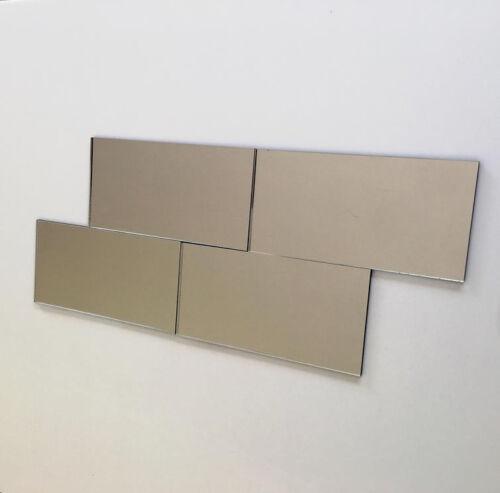 Rectangulaire Acrylique Mur Carrelage-miroir