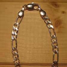 Man Woman Chain 4mm silver 925 sterling Figaro or Curb (choice designs & sizes)