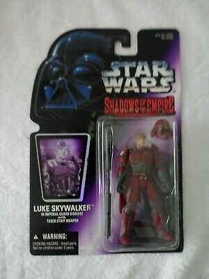 1996 STAR WARS SHADOWS OF THE EMPIRE LUKE SKYWALKER IN IMPERIAL GUARD DISGUISE
