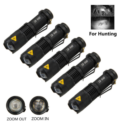 LED Flashlight Rechargeable Long Range 850nm//940nm Infrared Night Vision Torch