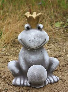 froschk nig figur aus steinguss neu frostfest f r garten