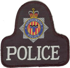 OBSOLETE - Northumbria Police Bell Shaped Cloth Badge / Patch
